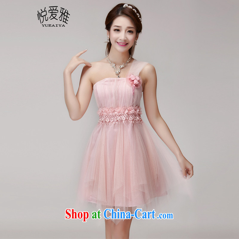 Yue love Ya bridesmaid service 2015 new bridesmaid mission banquet dress sister skirt short, small dresses DR summer 9553 pink are code