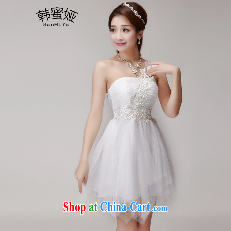 Korean honey Julia 2015 New staple Pearl bridesmaid clothing and sisters short skirts, bare chest banquet dress summer 9883 DR white are code