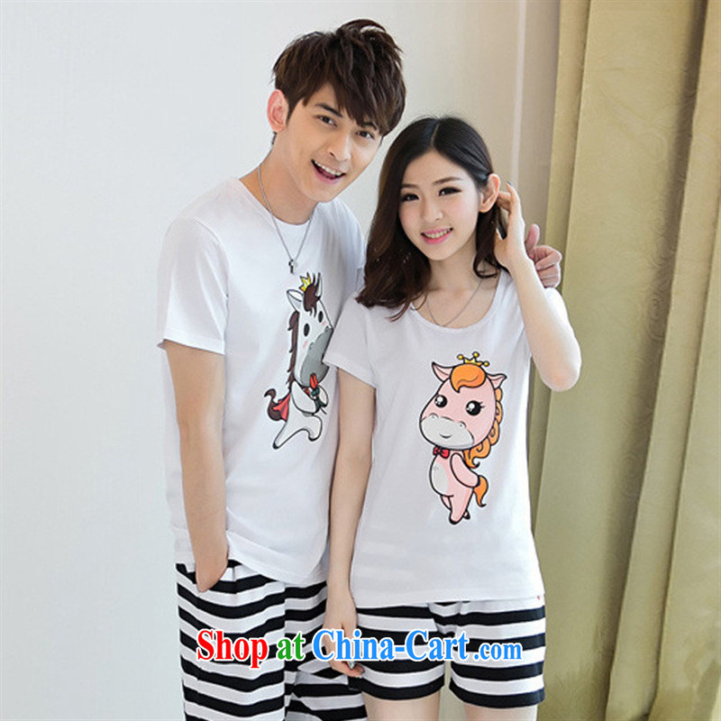 2015 summer couples the Korean version of the greater code cotton loose T-shirt beach couples short-sleeved shirt T red male XXL