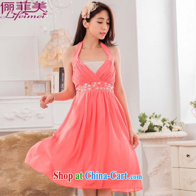 Philippines contributed US sexy V collar scarf manually staple Pearl Light drill high snow woven evening mm thick video skinny dress dresses red XXL