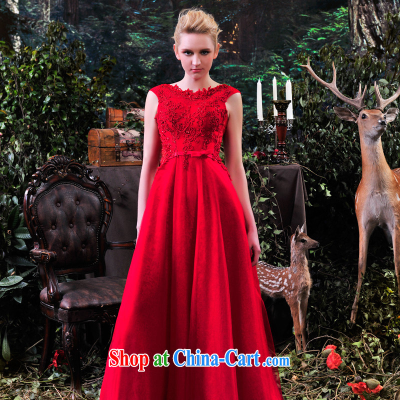 Garden MTF marriages served toast dress 2015 new spring bridesmaid clothing red long, elegant L 881 big red 173 - M