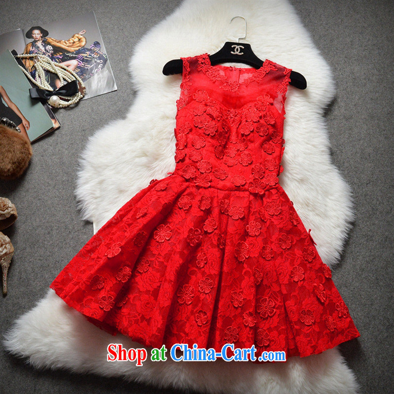2015 boutique dress-style decals shaggy Princess dress dress bridesmaid clothing dresses JC 1296 apricot XL