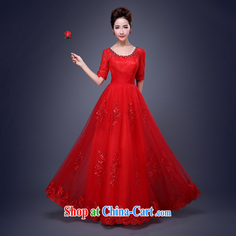 Cheng Kejie MIA 2015 new dress uniform toast bridesmaid clothing Evening Dress bridesmaid in spring and summer long red marriage long sister red XXL