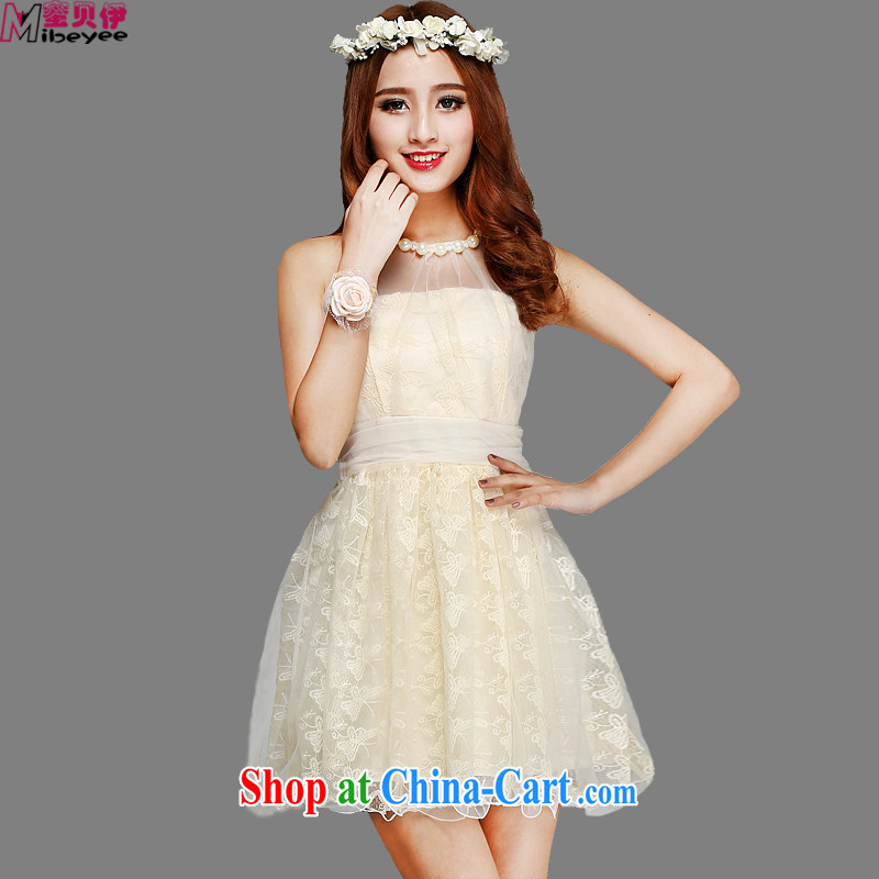 Honey, Addis Ababa, the only American-style the Pearl River Delta (PRD folds back biological empty the flower embroidery lace hangs also dress dresses Evening Dress bridesmaid dress the performances are beige code