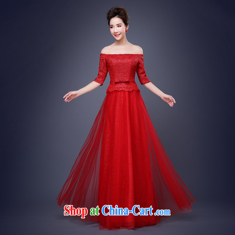 Jie MIA 2015 new lace small dresses, long dress skirts show bridal toast clothing bridesmaid dress long XXXL