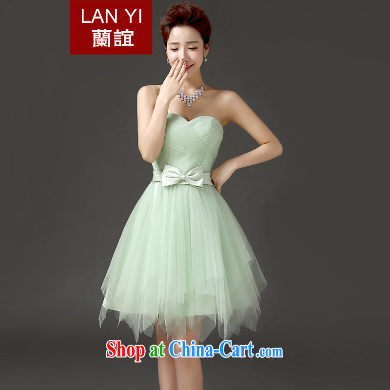 _Quakers, spring and summer new, Mary Magdalene 2015 chest dress Korean version graphics thin bridal bridesmaid dresses short show banquet small dress quality assurance given to contact Customer Service will supplement to fee