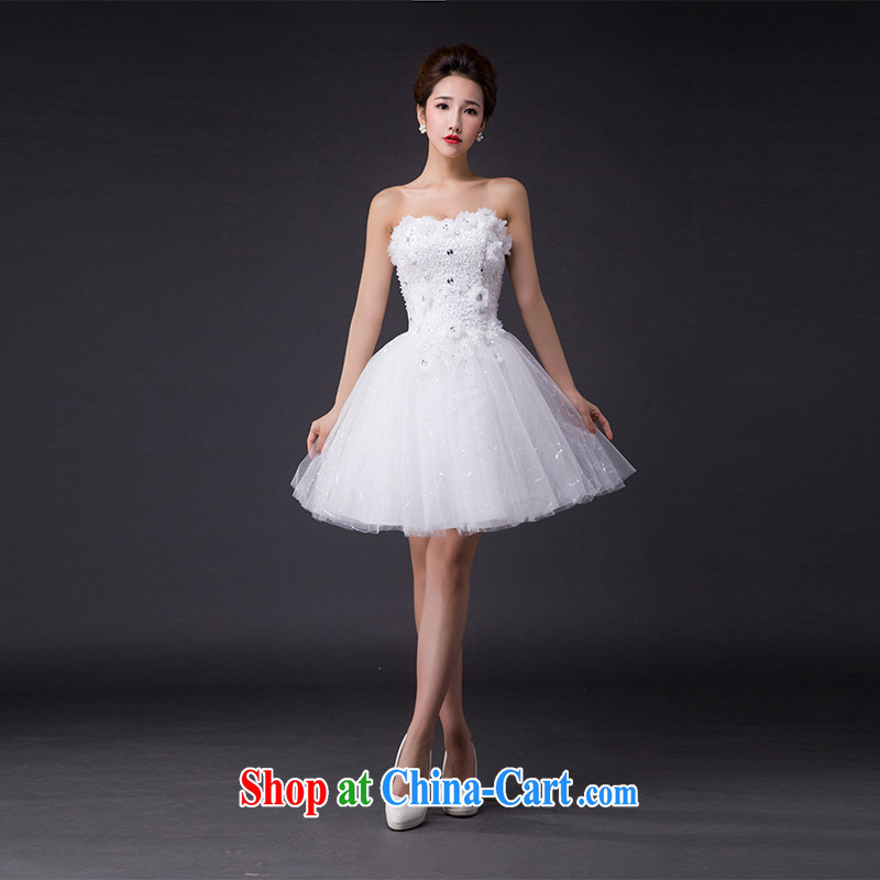 Hi Ka-hi 2015 new bows dress Korean wiped chest dress the Annual Dinner Show dress skirt P 008 ivory XXL