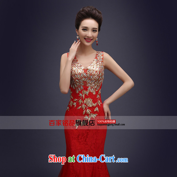 Evening Dress wedding toast serving evening summer 2015 new marriages served toast long lace shoulders bridesmaid dress banquet dress wine red XXL pictures, price, brand platters! Elections are good character, the national distribution, so why buy now enjoy more preferential! Health
