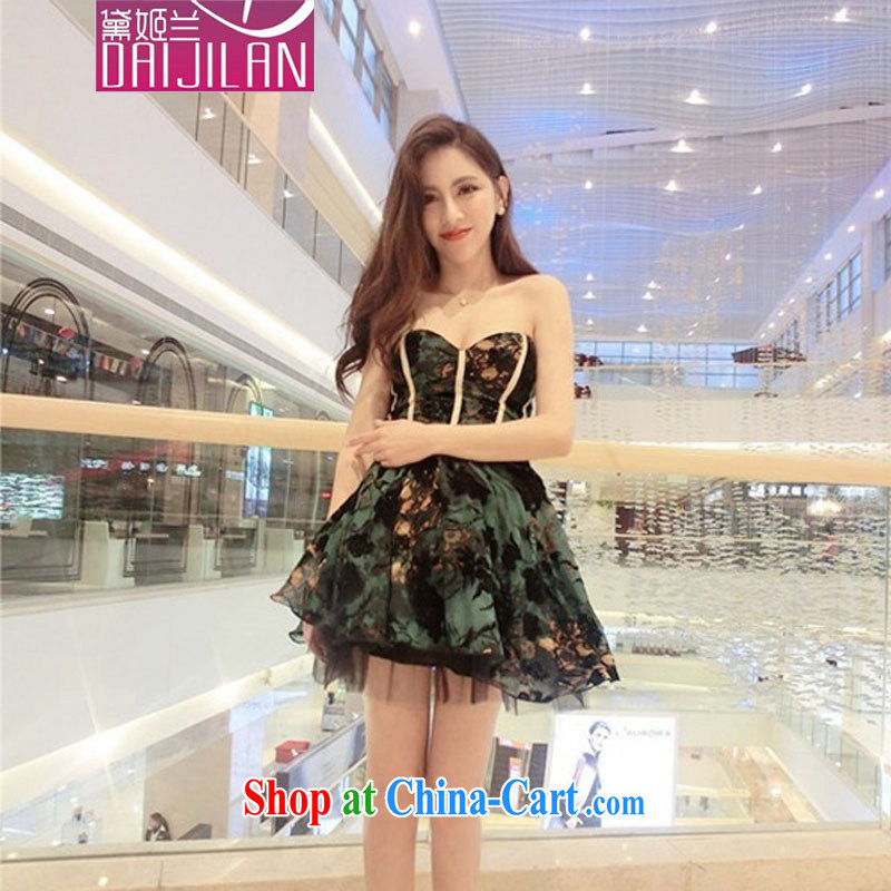 demi-hee, 2015 new Korean genuine name-yuan lady high-end high-quality waist bare chest shaggy small dress