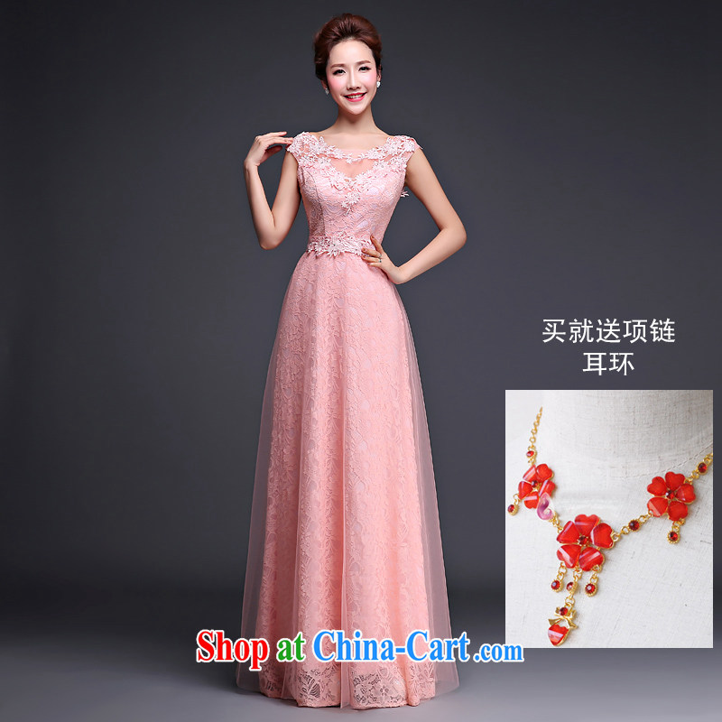 Love spell Fort summer 2015 new bride wedding dress moderator for the field shoulder lace red toast serving female C, pink M _84 _ 67_