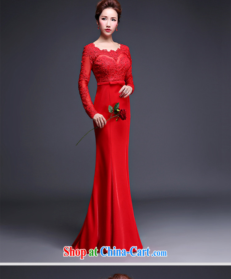 Love spell Fort Lauderdale 2015 new marriages wedding dresses the Field shoulder crowsfoot long-sleeved long lace bows Service aware of red XXXL (96/80, pictures, price, brand platters! Elections are good character, the national distribution, so why buy now enjoy more preferential! Health