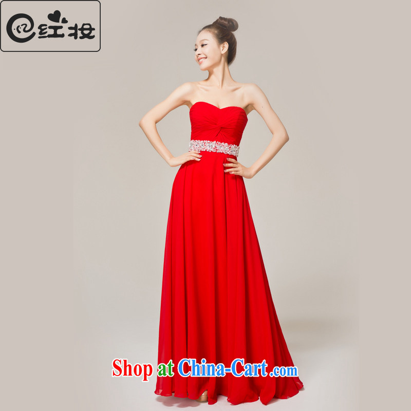 Recall that the red makeup spring bridal wedding dress 2015 new stylish bridal toast serving red long dress L 12,142 red XL