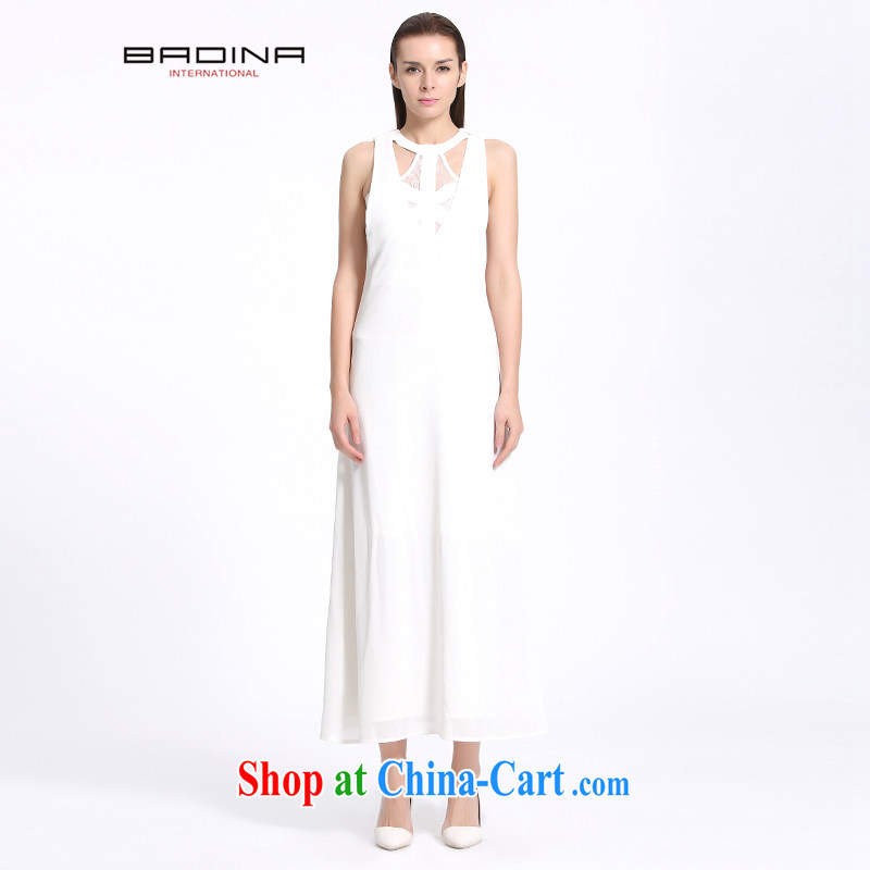 Barbara's 2015 summer New Long dress dresses summer White Graphics slim skirt temperament 1.4249 billion the white L