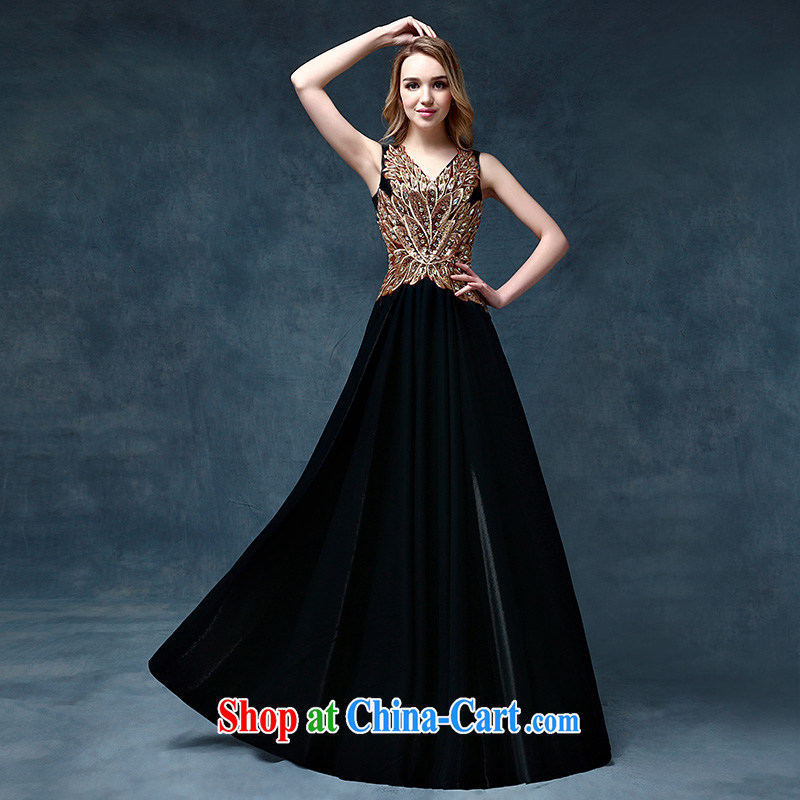According to Lin Sha Evening Dress 2015 new long serving toast marriages stylish Korean moderator dress dresses female XL