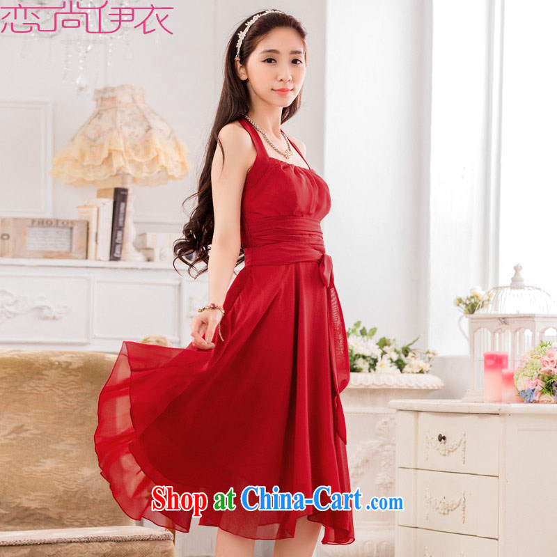 The package mail XL dress new summer aristocratic temperament of a sense also dresses snow woven Evening Dress bride annual toast dress dress bridesmaid dress dark red 3 XL approximately 165 - 185 jack