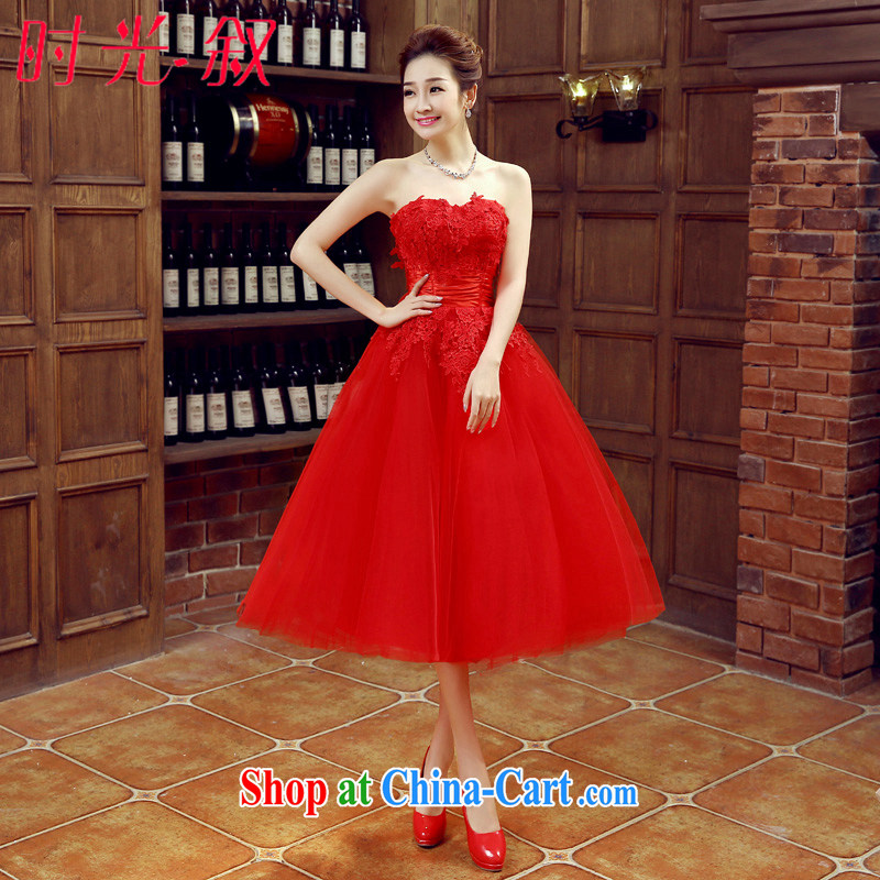 Time his bare chest wedding dresses new 2015 spring and summer fashion red lace long bridal wedding dress red bows in his long evening dress red XXL
