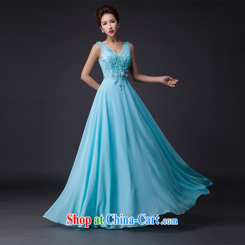 Hi Ka-hi 2015 new dress sense of double-shoulder dress Deep V for withholding the Annual Dinner Show dress skirt P 009 paragraph 2 style XL