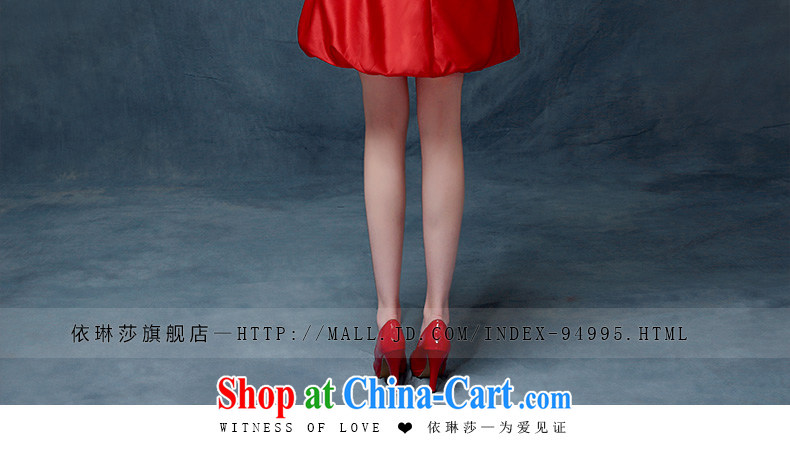 Evening Dress short 2015 new wedding dresses red bows Service Bridal Fashion long betrothal banquet short bridesmaid clothing red XL pictures, price, brand platters! Elections are good character, the national distribution, so why buy now enjoy more preferential! Health