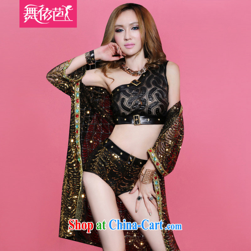 According to dance Hip Hop new Europe night DS ??? costumes sexy, female singer clothing dancer clothing gold L large code