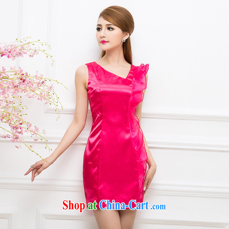 The Tang dynasty minimalist luxury Solid Color beauty dress dresses red XXXL