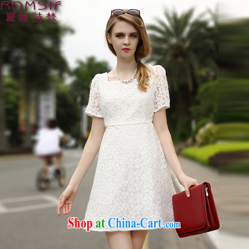 Golden Harvest, poetry helped Connie to pack 2015 summer new lace snow woven dresses women dress 8.002065 billion white XL