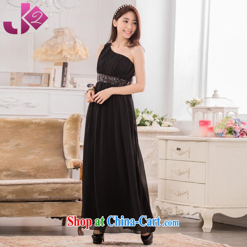 JK 2. YY elegance single shoulder-waist snow woven long skirt XL, long evening dress costumes black are code 100 recommendations about Jack