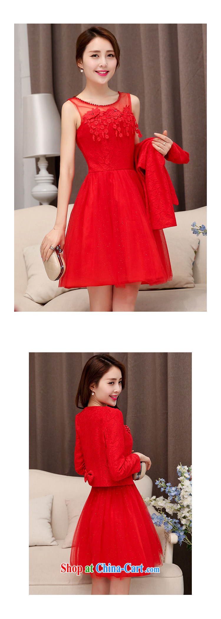 Cayman Business Gift Wedding Dress Girls Summer 2015 With New Korean Fashion Beauty Style Two Piece Bridal Gown Back Door Toast Bridesmaid With Two Piece Dresses Red Xxl,Wedding Dresses In Texas