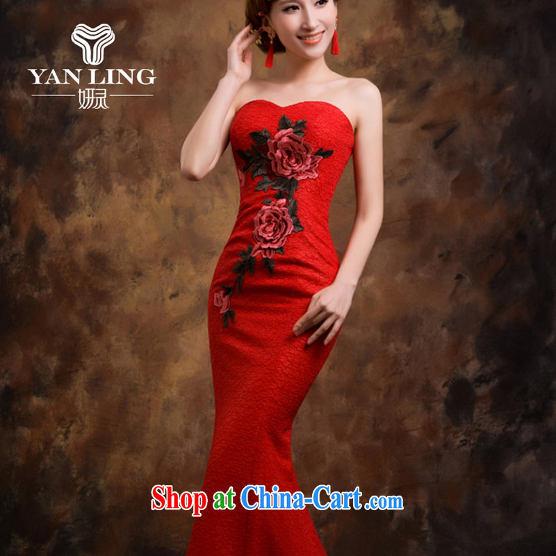 Red wedding dresses bridal toast serving evening dress new 2015 crowsfoot wedding betrothal wedding dress female XXL, her spirit, and shopping on the Internet