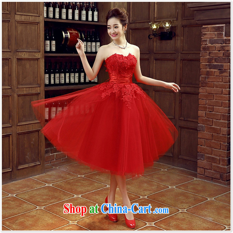 bridal dresses wedding bows new marriage, stylish red dress girls ...