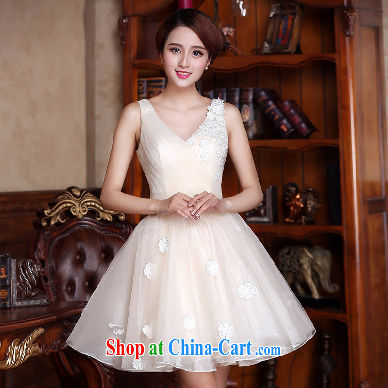The bride 2015 stylish sweet little dress sweet floral dress Princess dress 594 paragraph B L