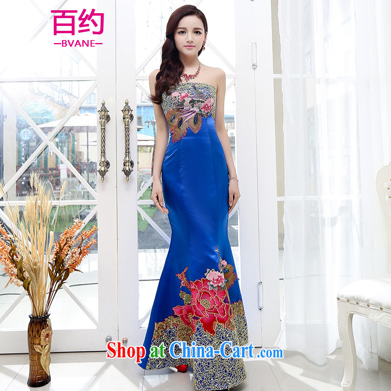 100 about 2015 new bride wedding dress toast clothing stylish long, crowsfoot beauty wedding dresses elegant chair show dress PO _the silk scarf_ XL