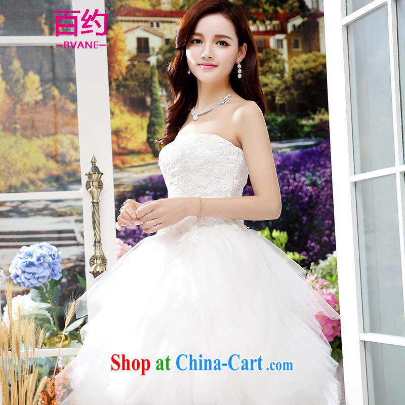 100 about 2015 new marriages served toast short stylish bridesmaid tie wedding dress upscale pieces dress pregnant women dress white (the silk scarf) XL