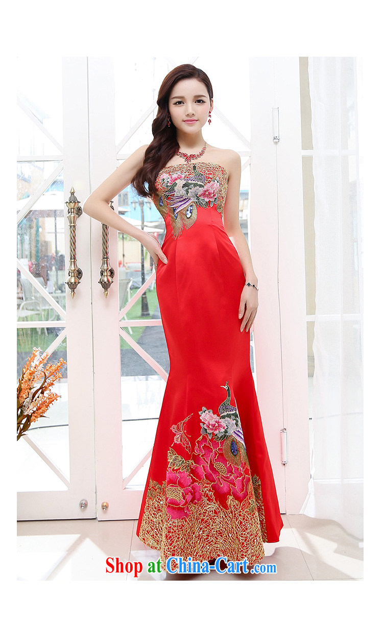 The world 2015 new bride bows new 2015, long stylish erase chest dress crowsfoot cultivating the annual meeting banquet dress 1550 red L pictures, price, brand platters! Elections are good character, the national distribution, so why buy now enjoy more preferential! Health