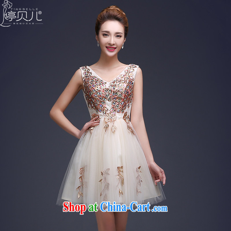 Ting Beverly Evening Dress 2015 new king bridal wine served at Merlion spring wedding dresses red length Ms., shoulders cultivating summer dresses champagne color XXL