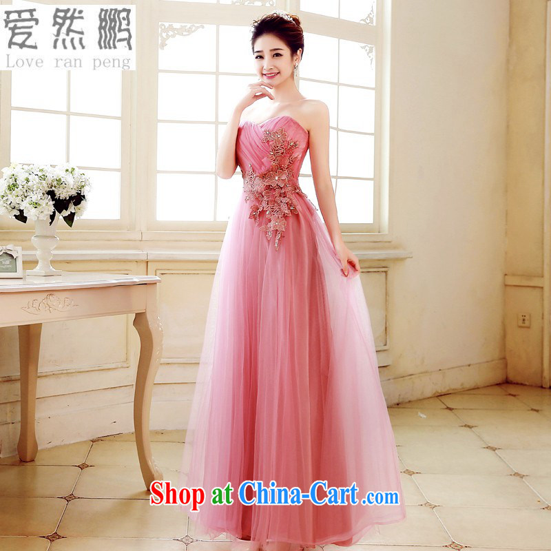 Love so Peng 2015 spring and summer new bridesmaid dresses serving long, sister dress bridal toast wiped his chest bridesmaid dress evening dress pink Customer to size the Do Not Support Replacement
