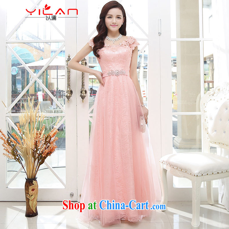 The world 2014 New Name Yuan small fragrant wind sleeveless beauty upscale wedding A field dresses wedding dress 1569 pink S