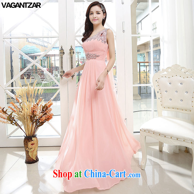 2015 VAGANTZAR New Name-yuan dress small Hong Kong has no cuff long beauty, upscale wedding dresses wedding dress pink XL