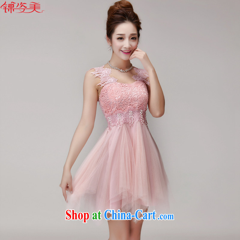 kam beauty new hook-blossoms, small dress manually set a pearl Princess Won the lumbar shaggy skirts dresses M 3097 pink