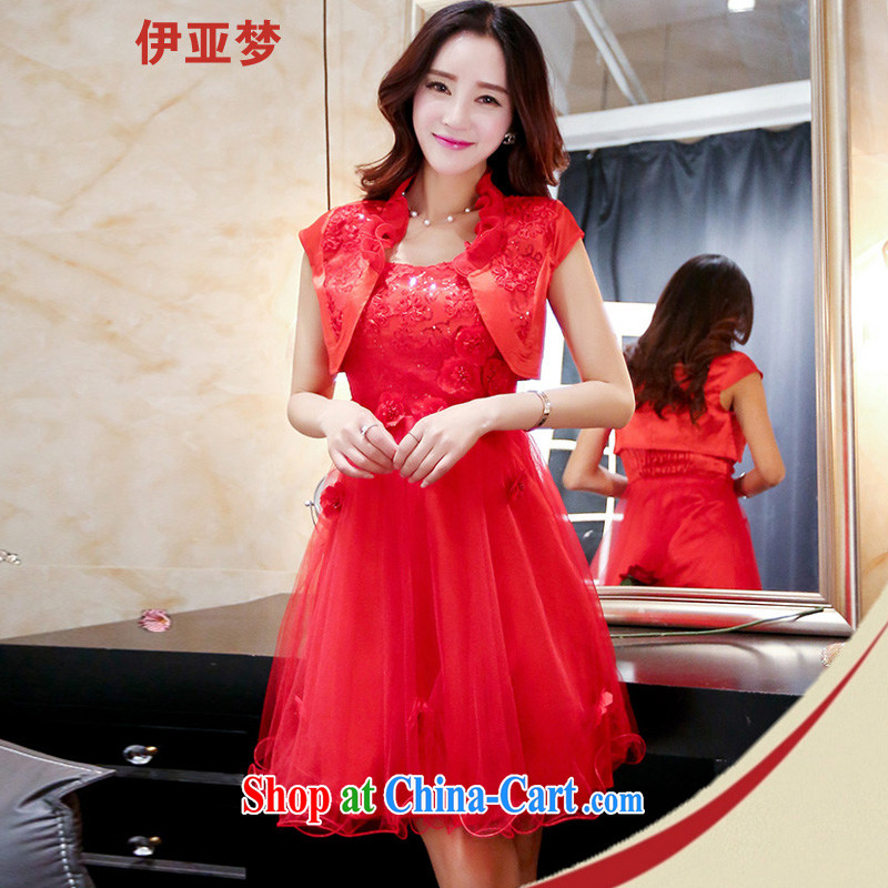 Bahia dream 2015 new 4 season with daily dress beauty is a two-piece short dress dresses red XXXL