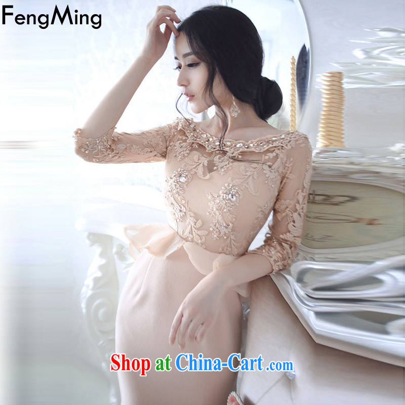 Abundant Ming Ching Ching with embroidered yarn Web parquet drill flouncing skirt dresses women dresses 2015 spring and summer New Picture Color L