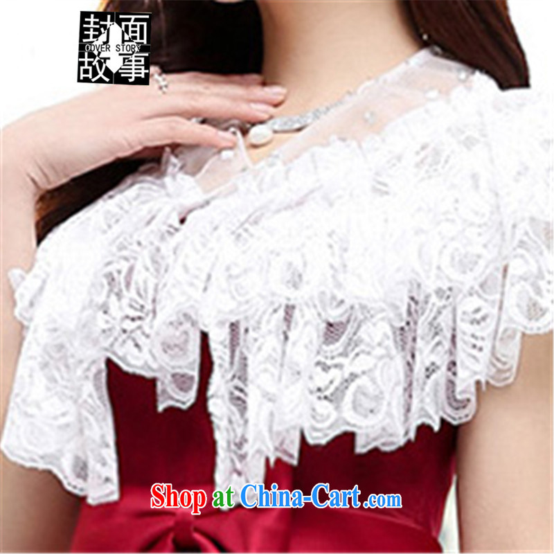 Cover Story 2015 new erase chest dovetail the waist beauty marriage small dress brides with bridal toast the wedding dresses red XL, cover story (cover story), online shopping