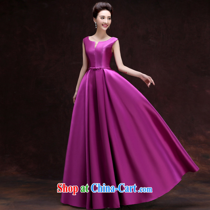 A good service is a 2015 banquet moderator Evening Dress new spring and summer long, sister's bridesmaid dress uniform girls purple 2 XL