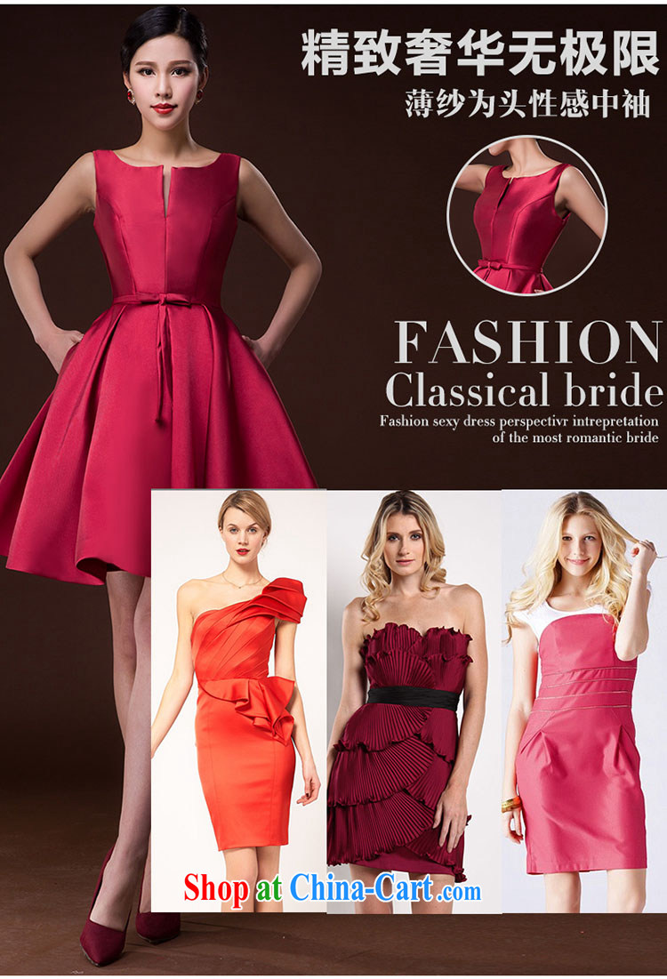 2015 new bride wedding toast serving female moderator dress Brocade straps sleeveless red skirts and deep red XXL pictures, price, brand platters! Elections are good character, the national distribution, so why buy now enjoy more preferential! Health