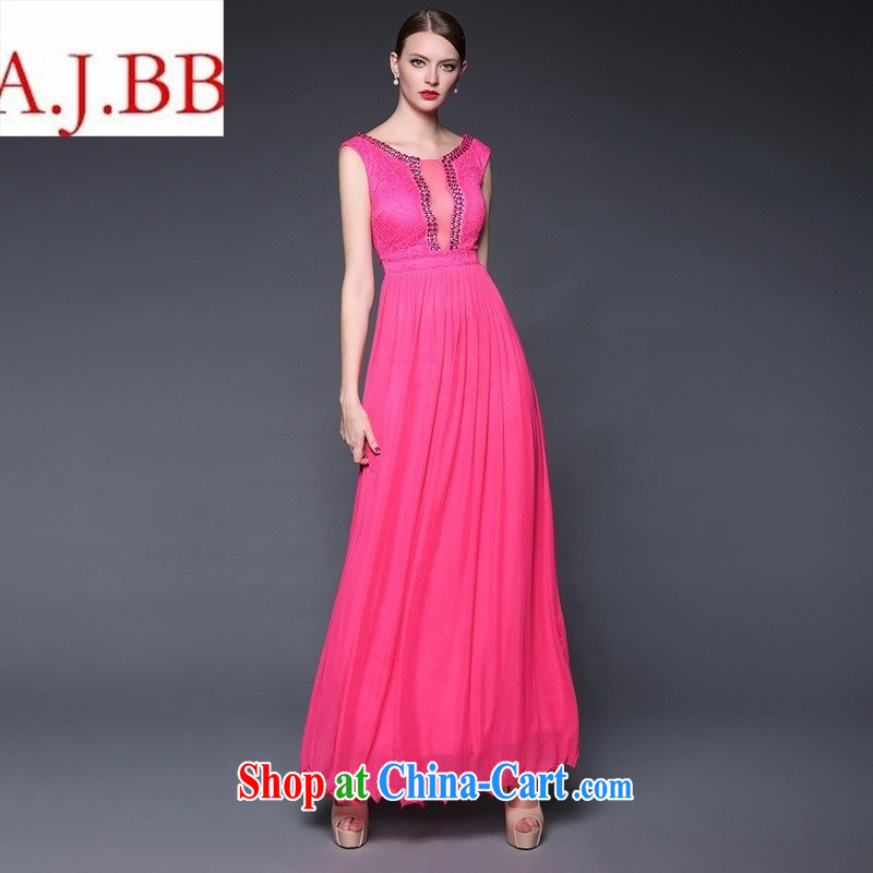 European and American style 2015 summer new goddess elegant wind long evening dress dresses W 0227 by red are code