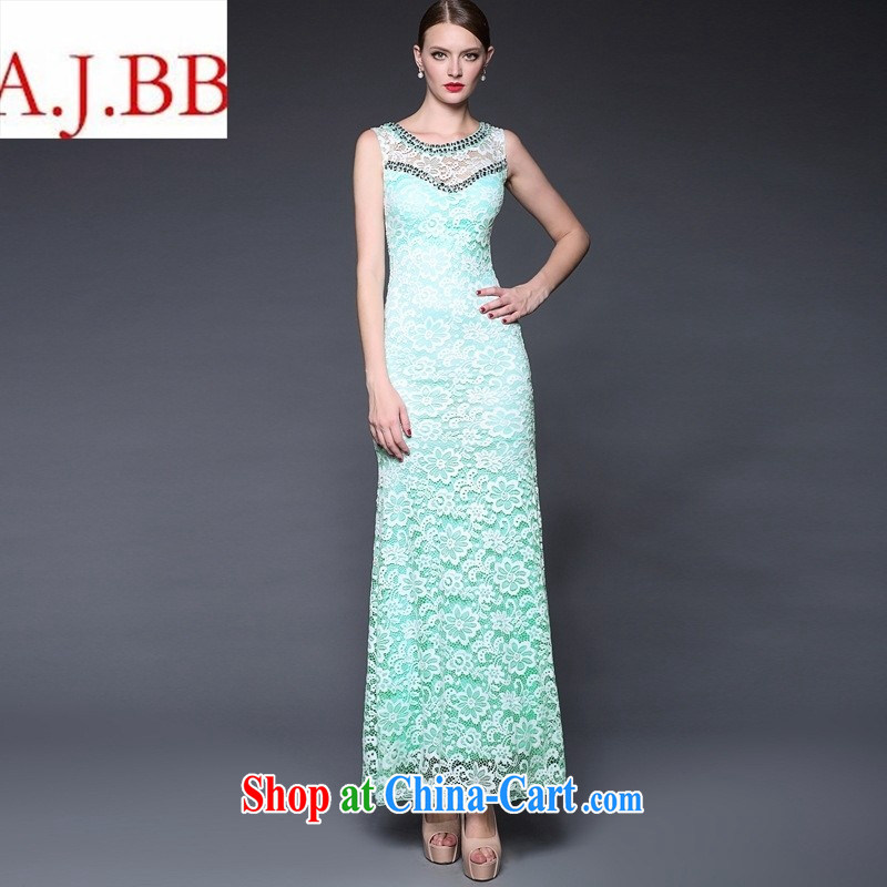 Summer women in Europe and America 2015 new manual staple Pearl aura of Yuan beauty dress dresses W 0159 toner color code