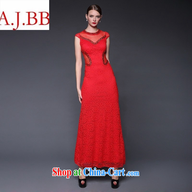 In Europe the 2015 new summer lace nails pearl cultivation, dresses Evening Dress dresses W 0389 black are code