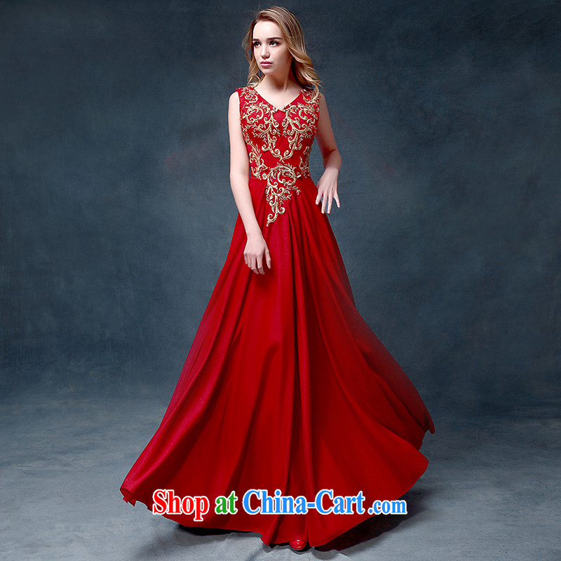 According to Lin Sa 2015 new bride toast clothing fashion bridal dresses red wedding dress Evening Dress long crowsfoot cultivating red are code