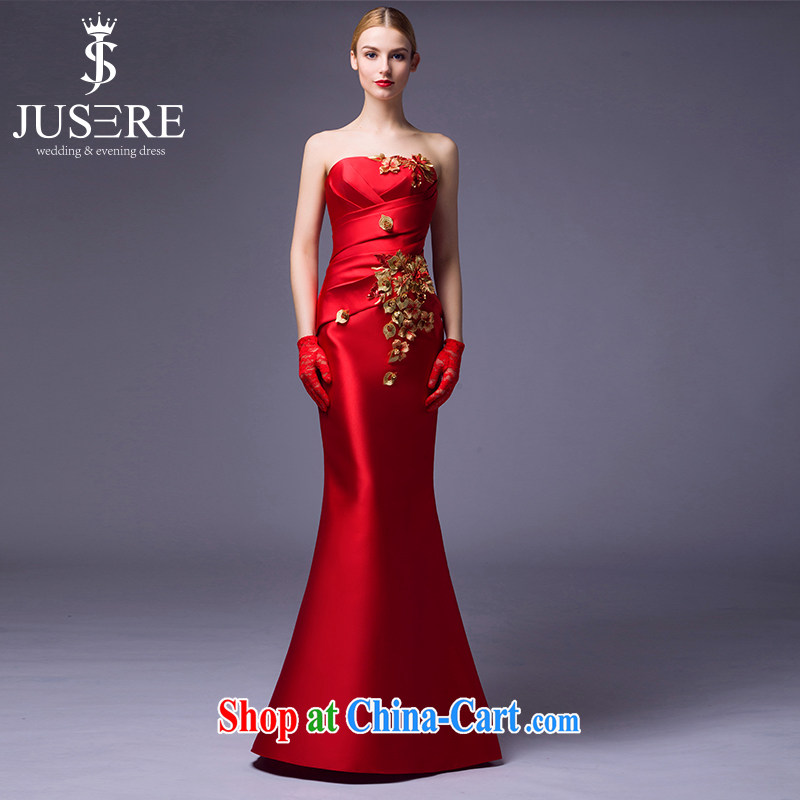 It is not the JUSERE high-end wedding dresses spring 2015 new Chinese crowsfoot cultivating marriages with red dress code 10