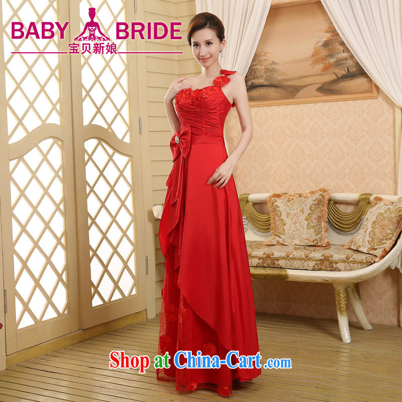 2015 wedding dresses new wedding dress bridal toast clothing Evening Dress red, shoulder-length, red XL