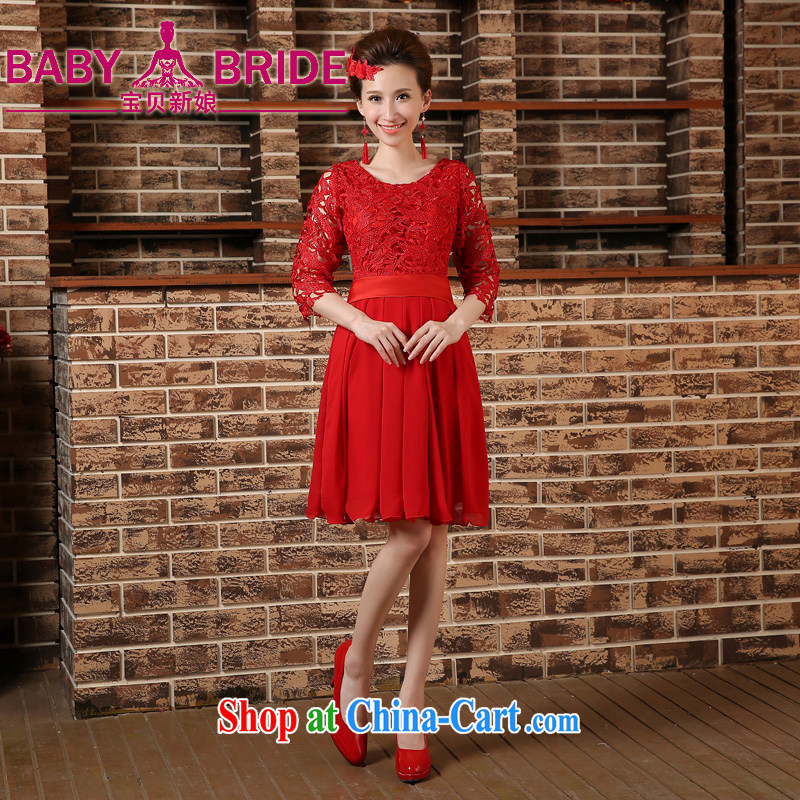 Pregnant women served toast high waist spring new 2015 bridal wedding dresses dress code the Sau San short red red XL